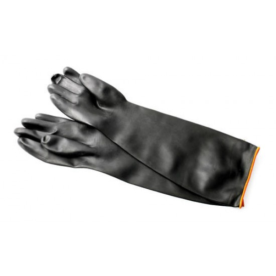 Elbow-Length Chemical Resistant Rubber Gloves
